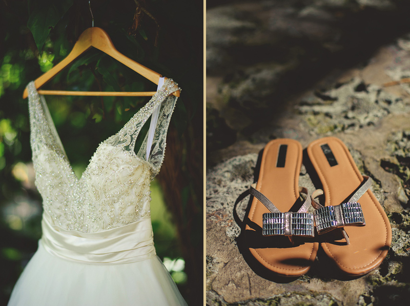 romantic sundy house wedding: dress and shoes