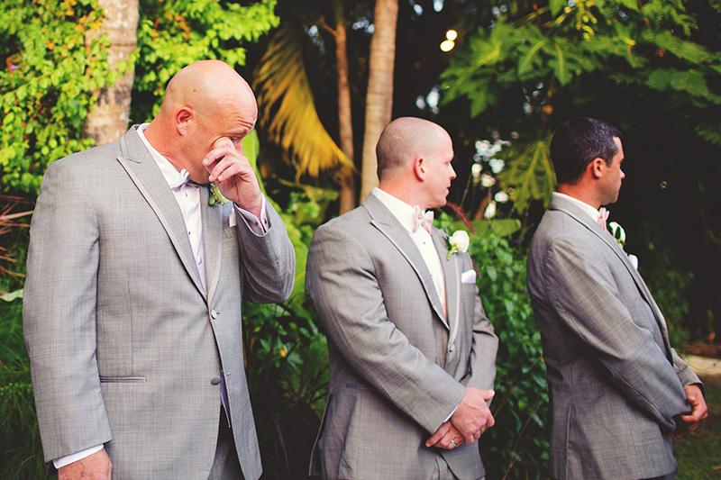 romantic sundy house wedding: emotional groom