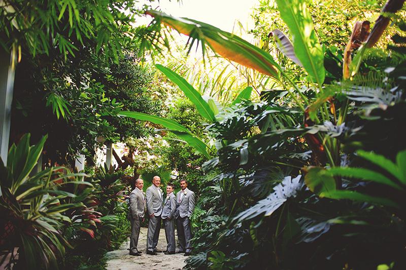 romantic sundy house wedding: groomsmen