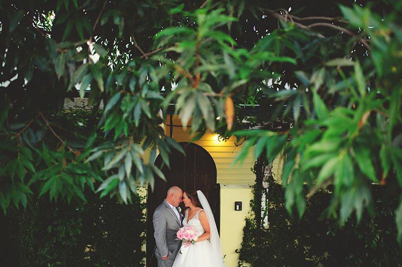 romantic sundy house wedding: happy bride and groom