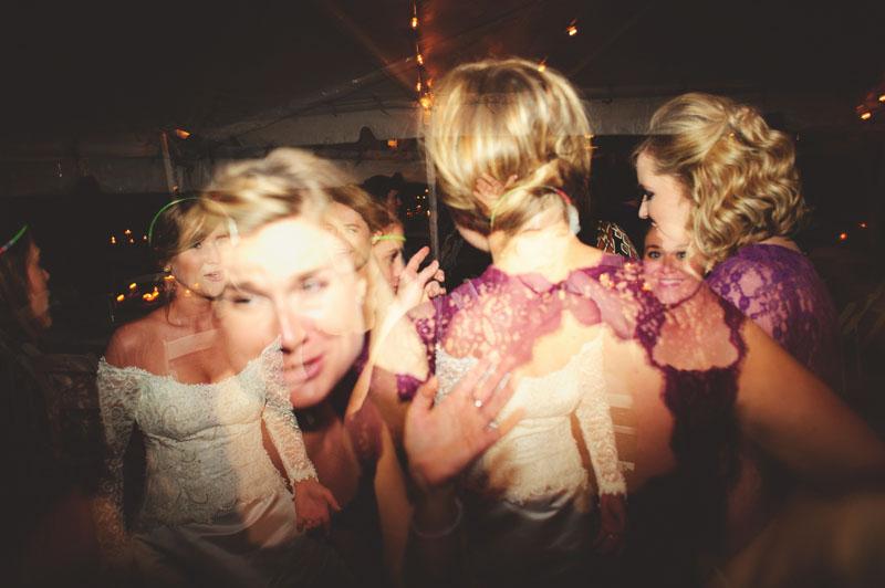 backyard tampa wedding: dancing reception