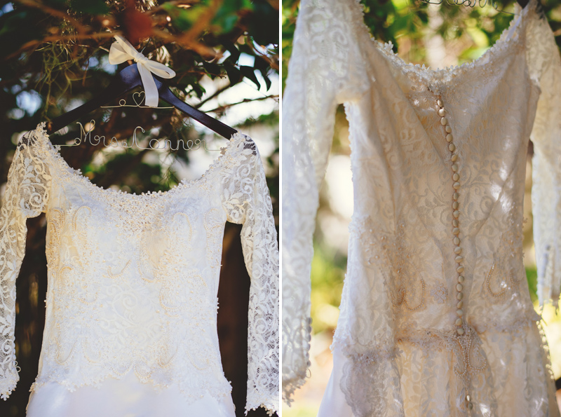 backyard wedding tampa: wedding dress details