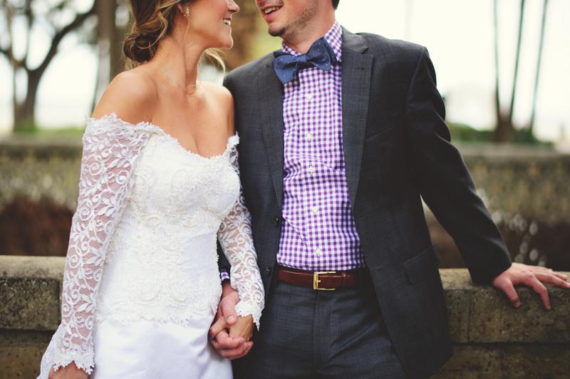 backyard wedding tampa: happy wedding couple