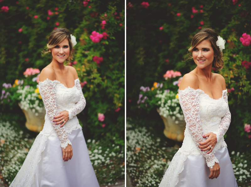 backyard wedding tampa: bridal photos