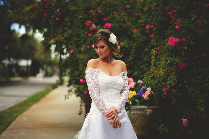 backyard wedding tampa: editorial bride
