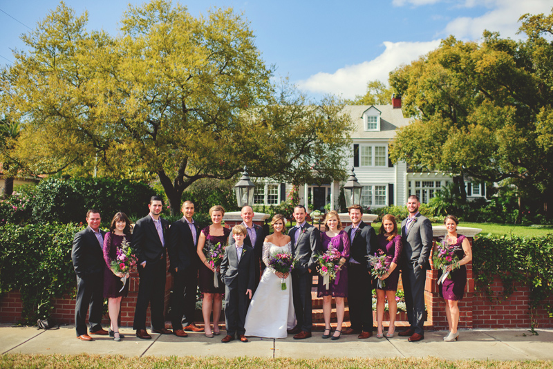 backyard wedding tampa: bridal party