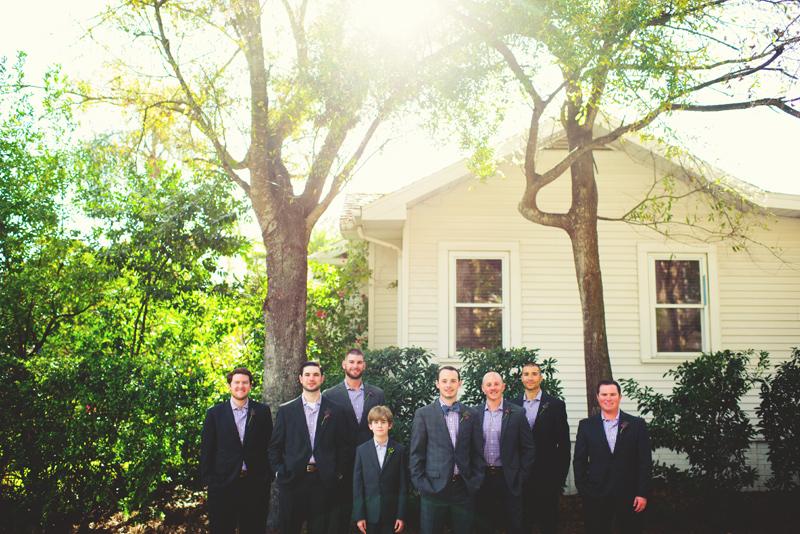 backyard wedding tampa: groomsmen