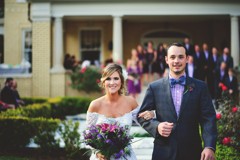 backyard wedding tampa: recessional