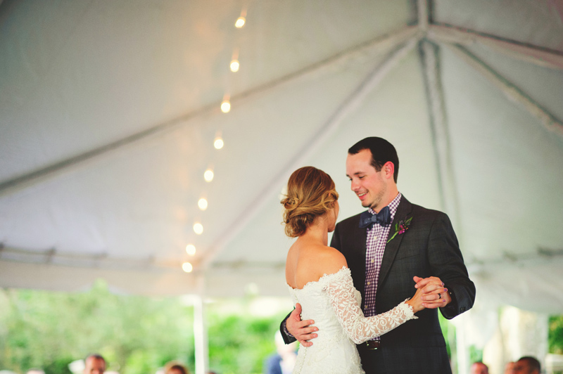 backyard tampa wedding: first dance