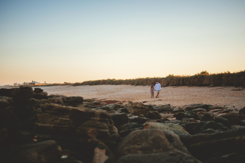 washington oaks state park engagement: rocky beach