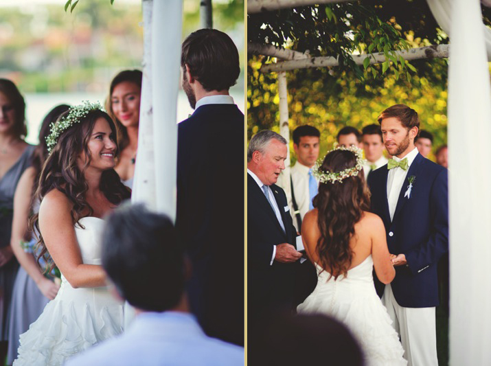 boho backyard wedding naples: bride smiling