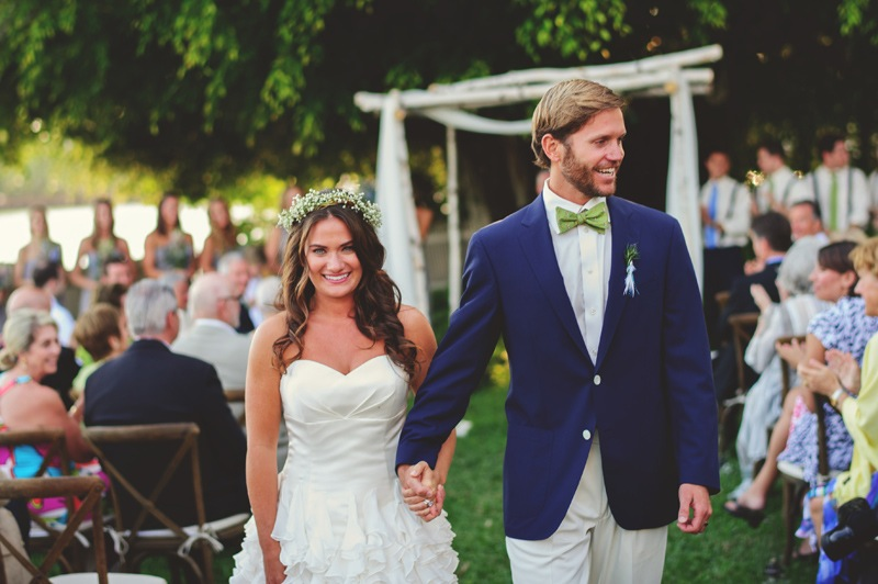 boho backyard wedding naples: recessional