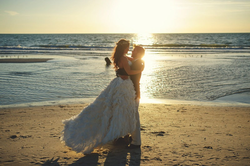 boho backyard wedding naples: sunset in naples fl