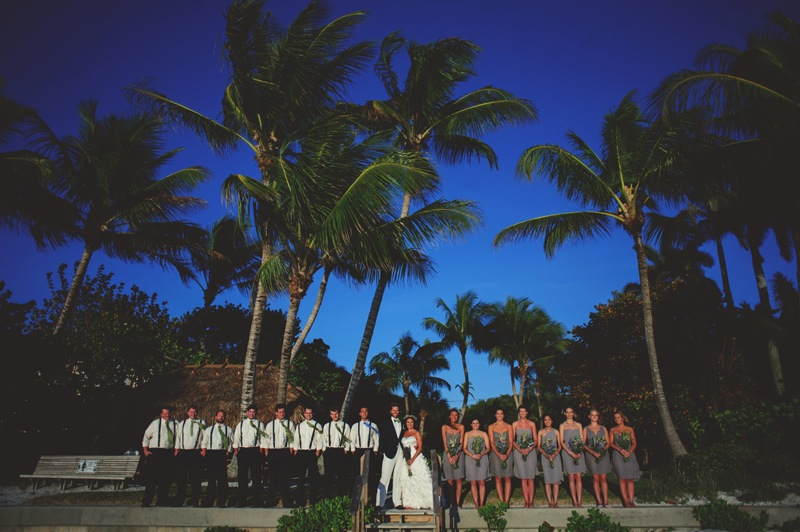 boho backyard wedding naples: bridal party