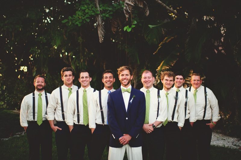 boho backyard wedding naples: groom and groomsmen
