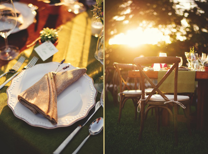 boho backyard wedding naples: rustic table decor
