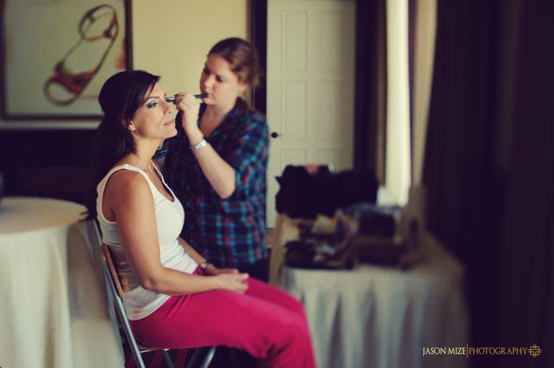 sandpearl wedding: bride makeup