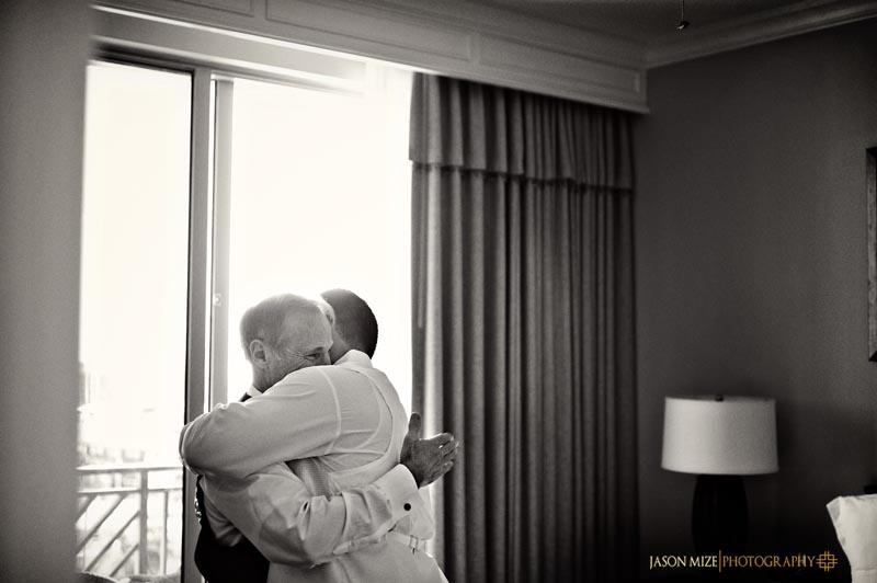 sandpearl wedding: emotional father