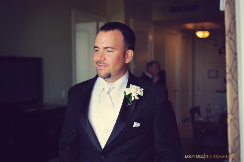 sandpearl wedding: groom