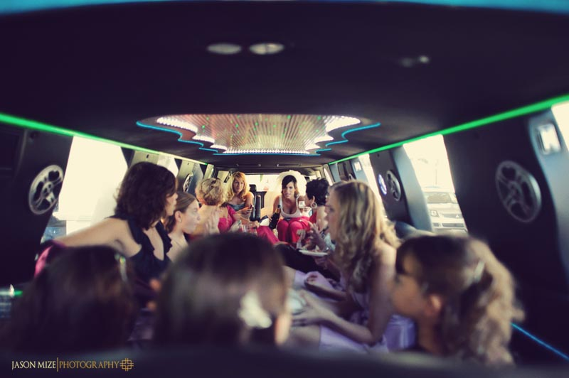 bridesmaids limo