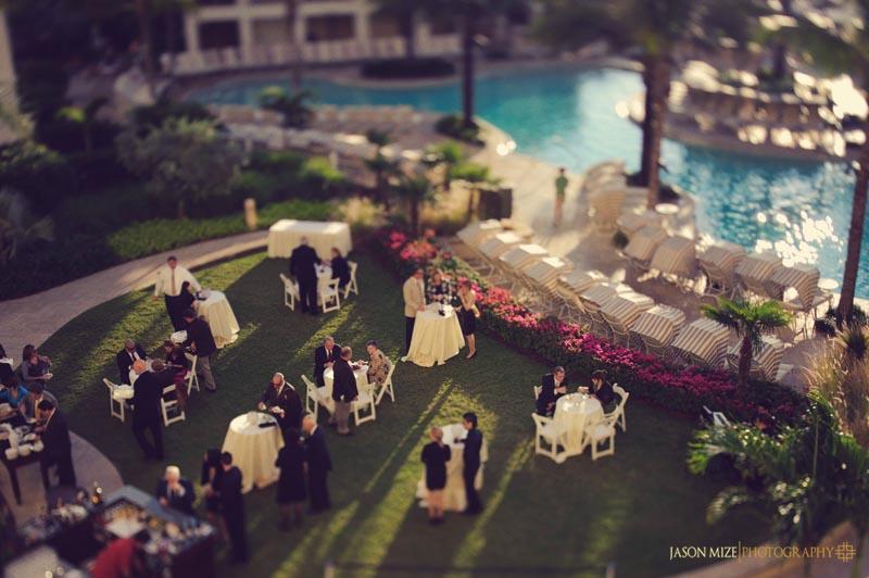 sandpearl wedding: cocktail hour