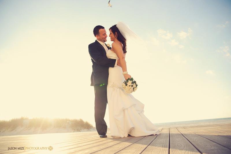 sandpearl wedding: sun flare