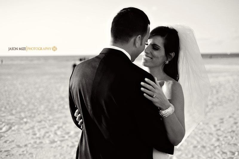 sandpearl wedding: bride and groom