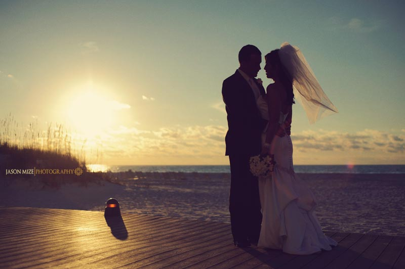bride groom boardwalk
