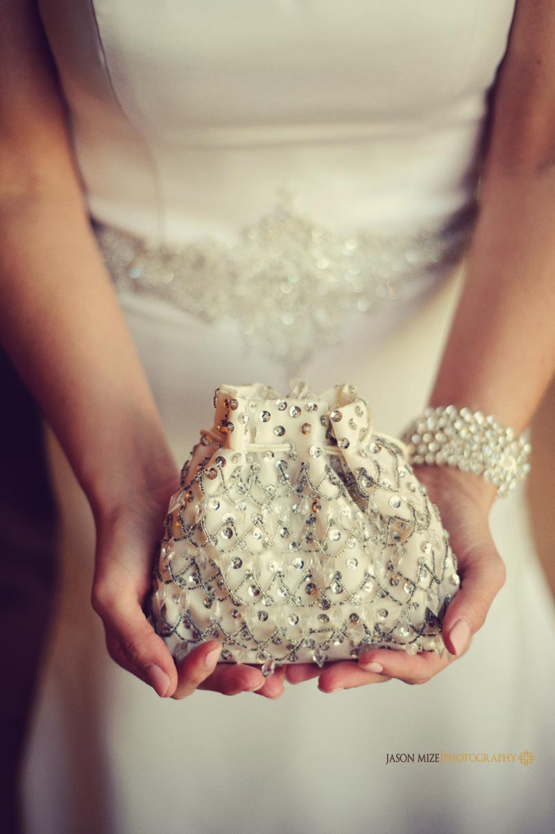 sandpearl wedding: antique purse