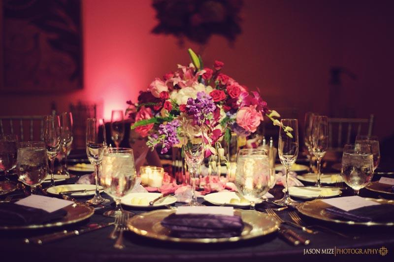 sandpearl wedding: botanic florist centerpiece