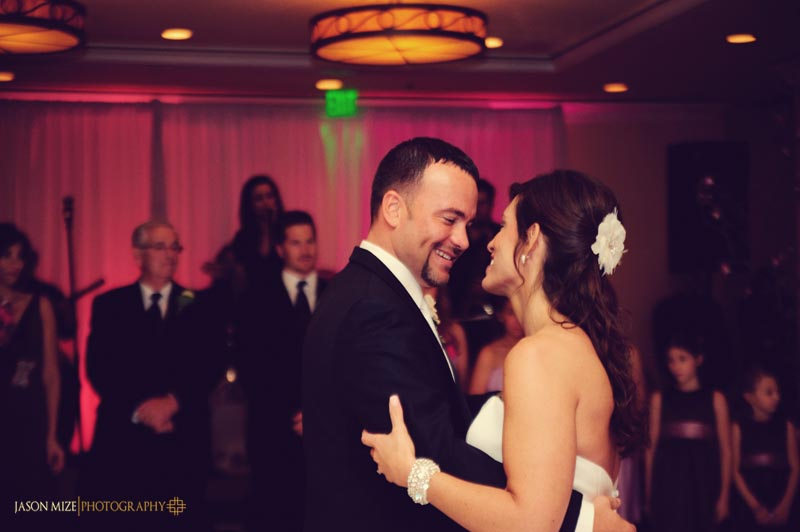 sandpearl wedding: bride and groom first dance