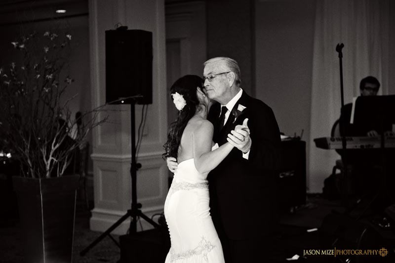 sandpearl wedding: father daughter dance