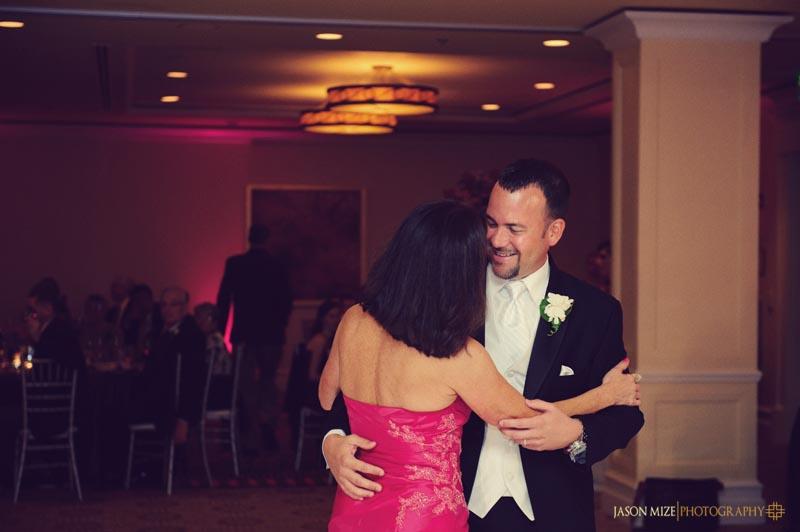 sandpearl wedding: mother son dance