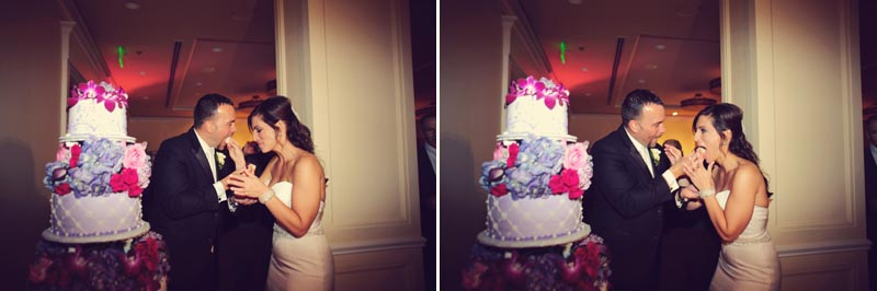 bride and groom wedding cake cutting