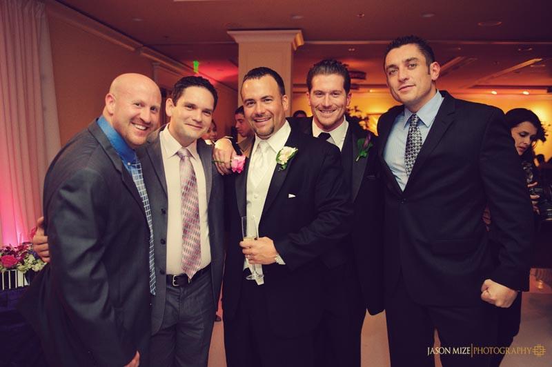 sandpearl wedding: grooms friends