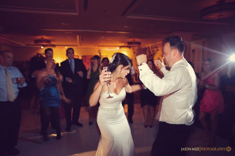 sandpearl wedding: bride groom dancing