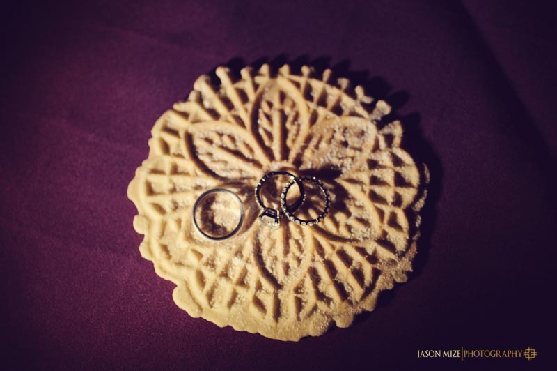pizzelle ring shot