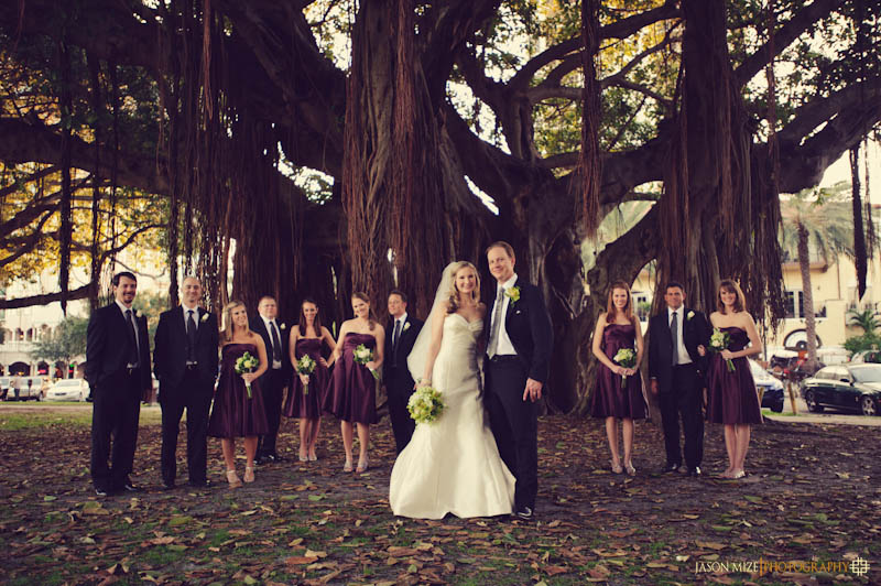 schaub park bridal party banyan trees