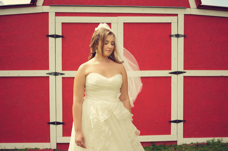 bride red barn