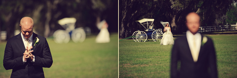 Lange Farm: bride walking