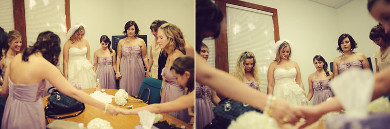bridesmaids praying