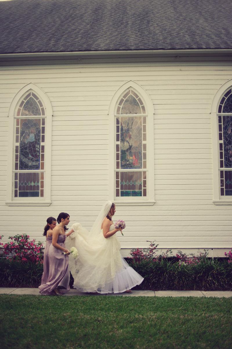 bride outside church