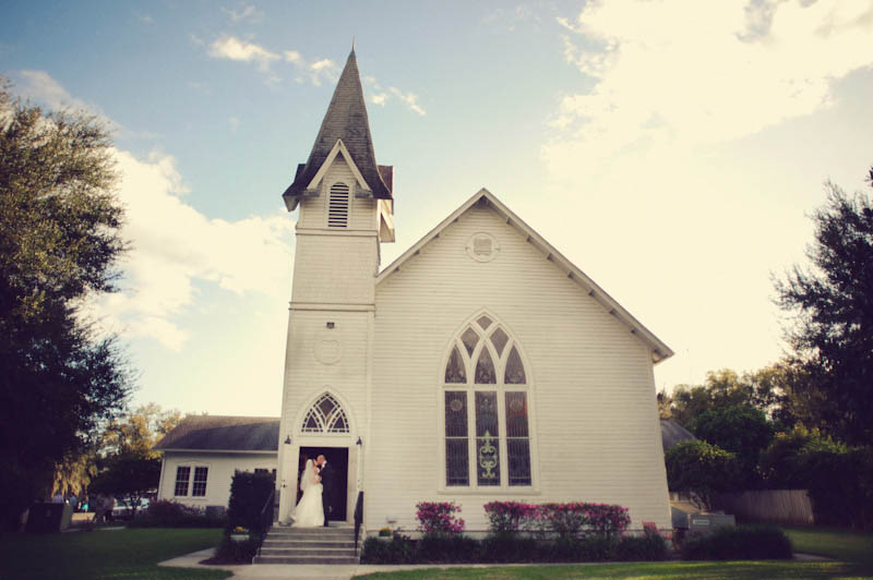 First Presbyterian of Dade City fl: bride and groom