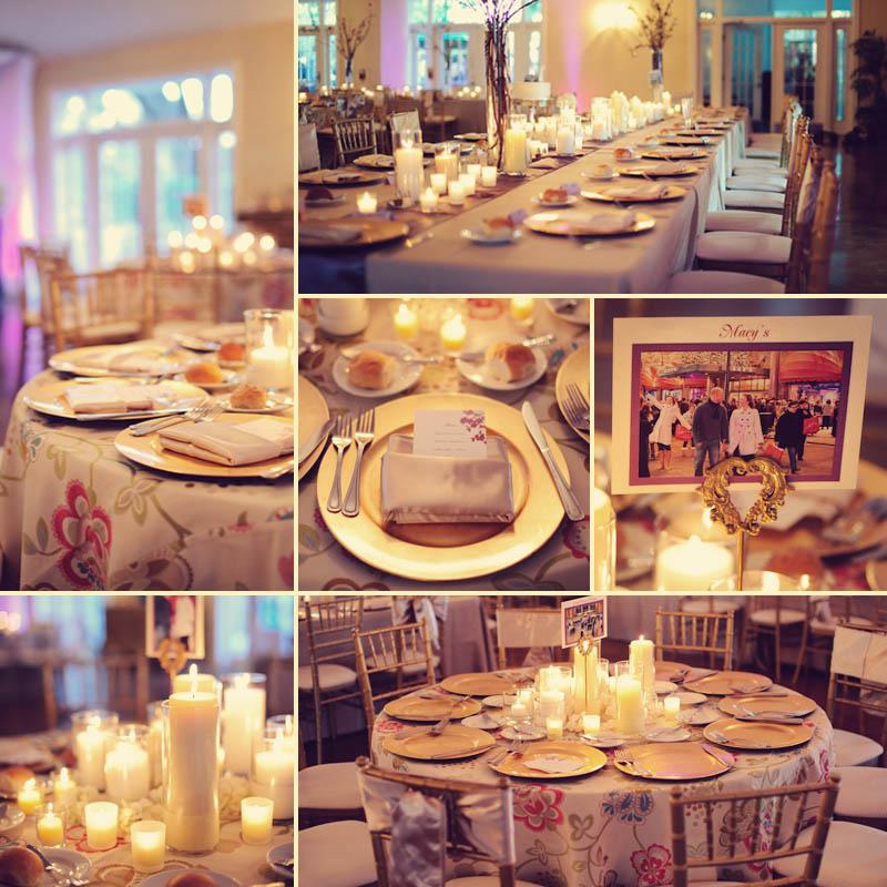 Lange Farm: reception tables