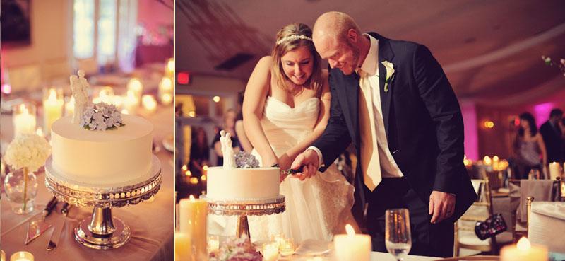 Lange Farm: wedding cake cutting