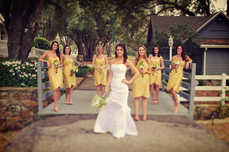 Lange Farm: bridesmaids yellow dresses