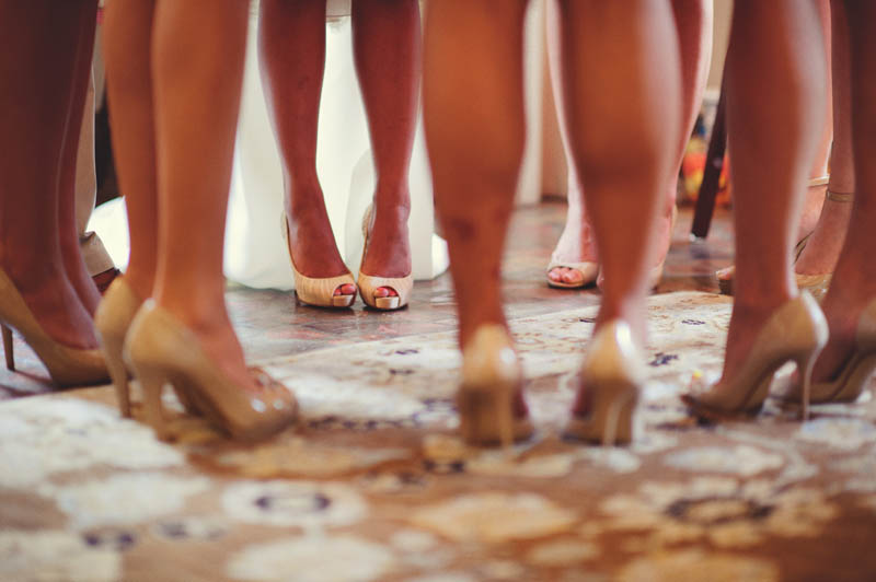 bridesmaids shoe shot