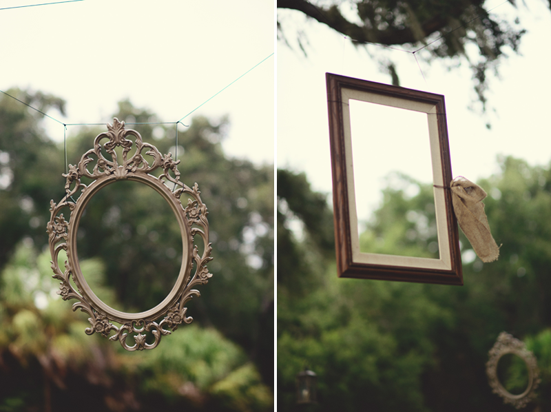 powel crosley estate wedding: hanging picture frames