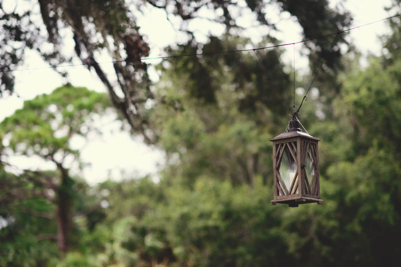 powel crosley estate wedding: hanging lanterns