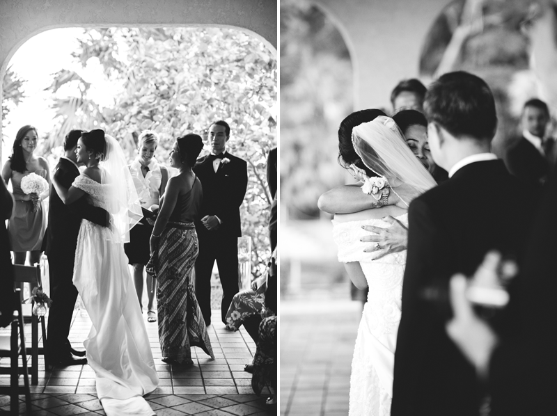 powel crosley estate wedding: kiss from father